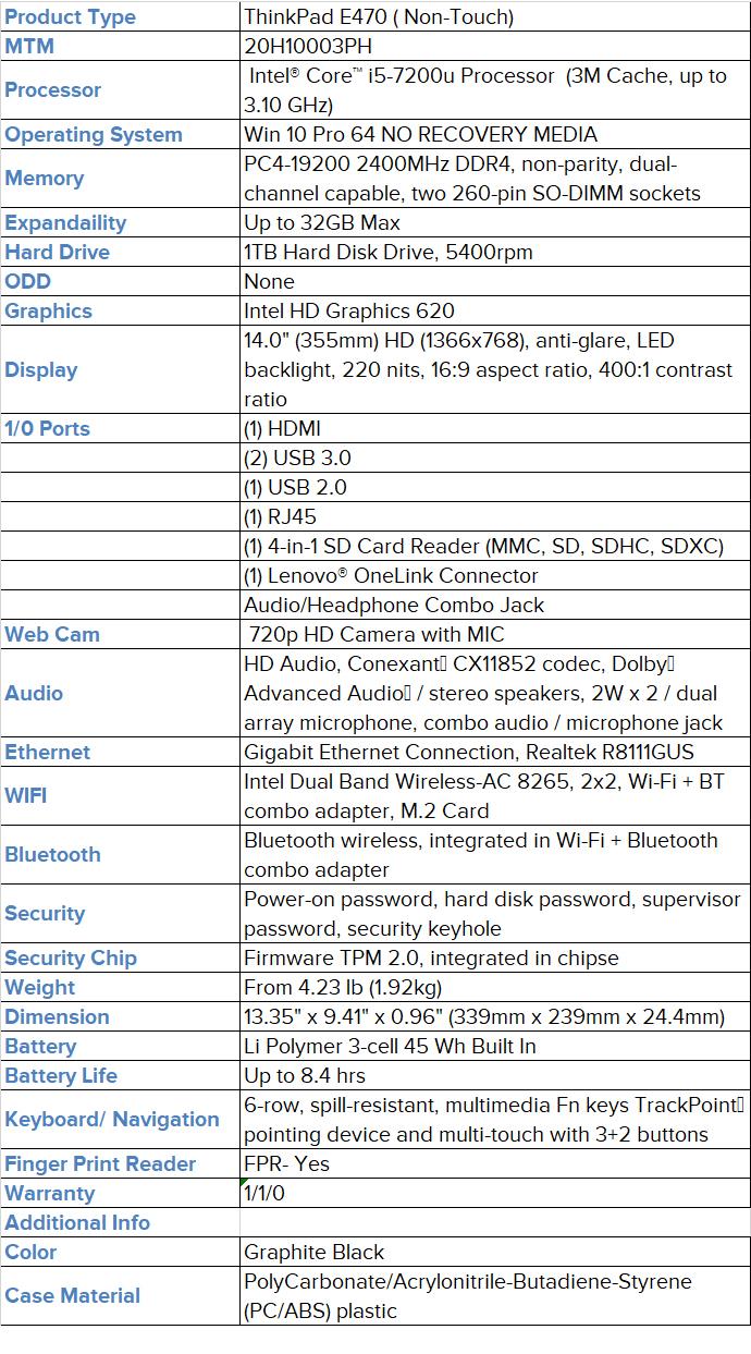 Thinkpad E470 i5